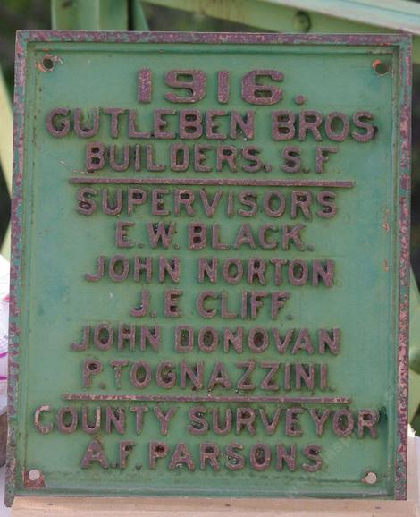 The Salinas Bridge Plaque for Las Pilitas rd.  - grid24_12