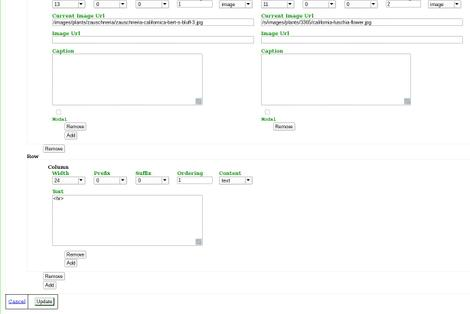 Here is the page manager of the 24 grid that we use to edit the page. The <HR> is a horizontal line. - grid24_12
