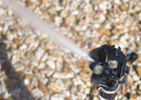 Here is a plastic Rainbird(tm) type impact sprinkler. - grid24_12