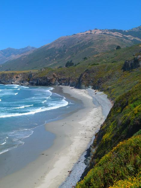 A Coastal beach along the Big Sur Coast. - grid24_12