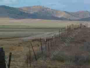 an old photo of a fence in Carrizo Plains - grid24_12