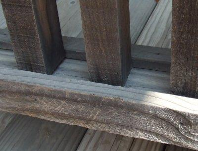 Here are the keepers for the rails of the deck. The vertical risers are screwed to the bottom and top runners. You lay it on it's side and put the bottom ones in first, then attach it and put the top on using the level on each riser. - grid24_12