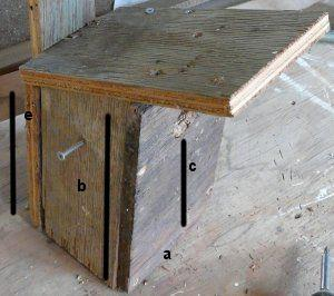 bird house with side door and its screw handle - grid24_12