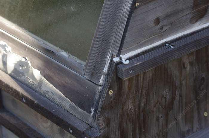 Old wooden windows make the easiest dry frame. You can attach right onto them.