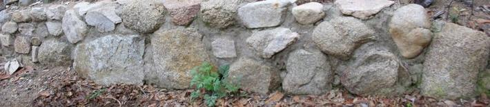 This is a really simple rock wall.