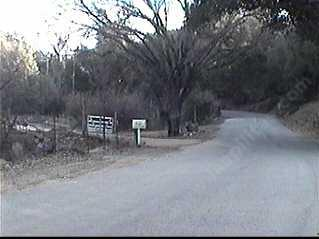 Entrance heading east on Las Pilitas Road