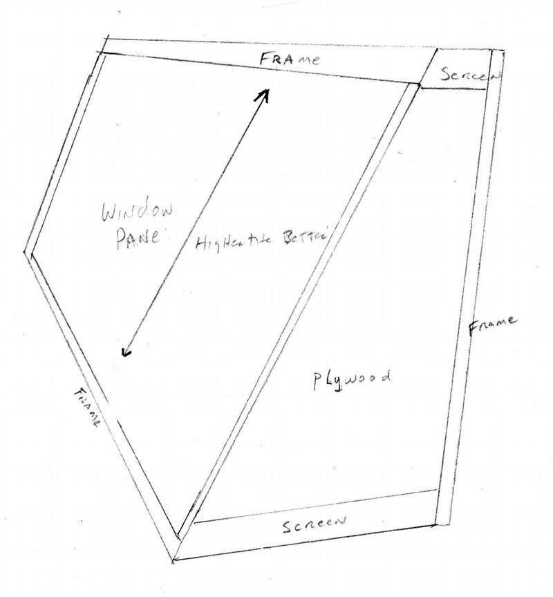 A rather crude drawing of a simple and cheap solar  dryer. - grid24_24