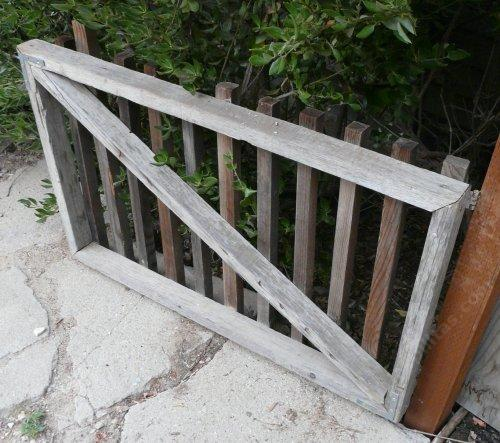 A Fancy Garden Gate The The Cross Brace Trimmed So It Will Drop Into The  Corners