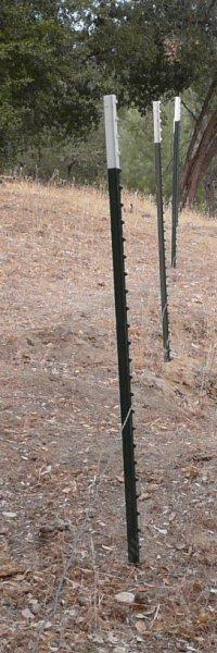 Metal Tee Posts With The First Strand Of Barbless Wire Bottom Strand Can Be Used